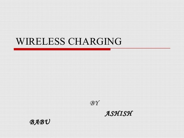 Wireless Charging Of Electric Cars Ppt