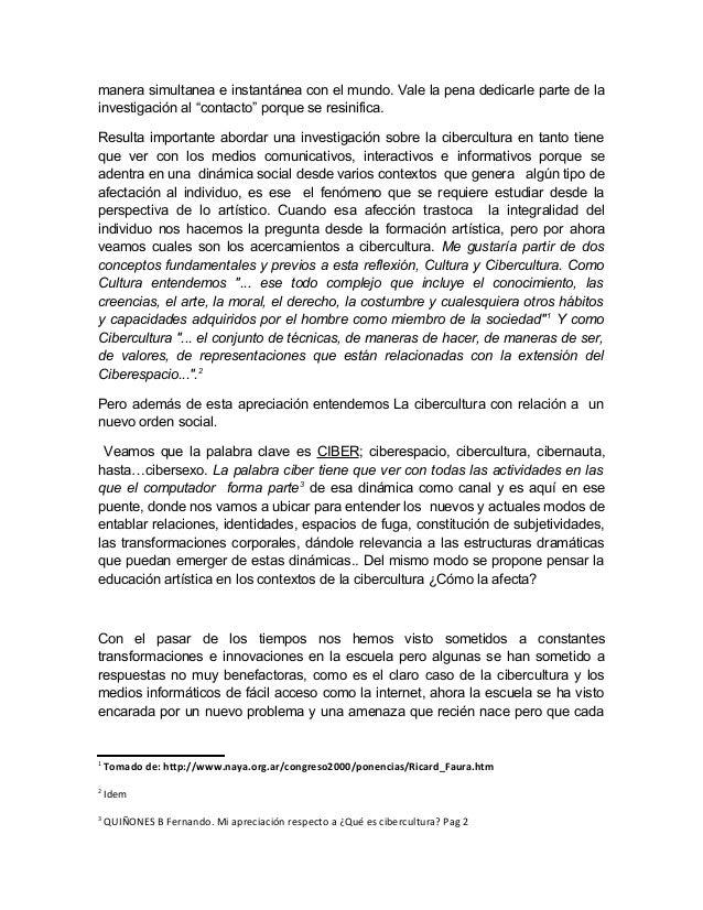 W cibercultura y educacion_artistica[1]nov 2010 Slide 2