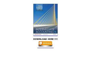 Loose-Leaf Print Companion Intermediate Accounting Volume 1