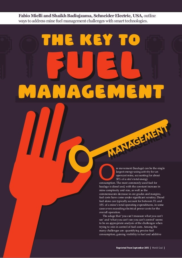Reprinted from September 2015   World Coal   The key to Fabio Mielli and Shaikh Badiujzama, Schneider Electric, USA, outli...