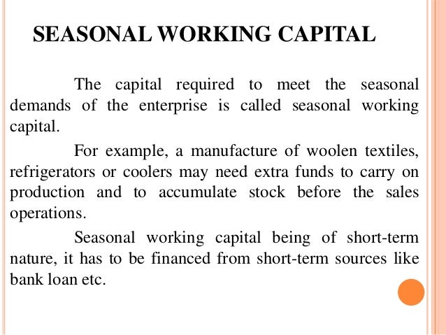 seasonal working capital