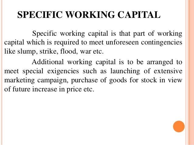 seasonal working capital