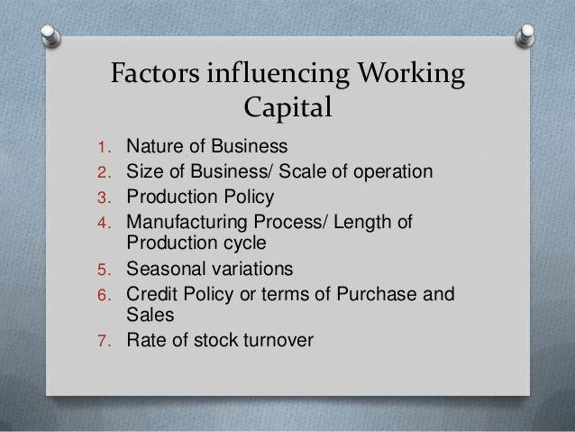 12 Main Factors Affecting Working Capital