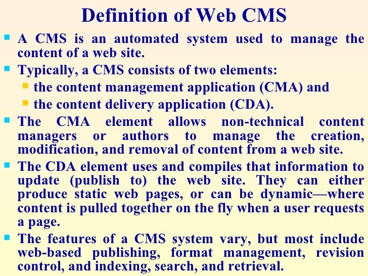 web content management systems The web cms channel gathers news, advice, analysis about web content management systems (web cms) and solutions for delivering compelling, modern digital customer experiences.