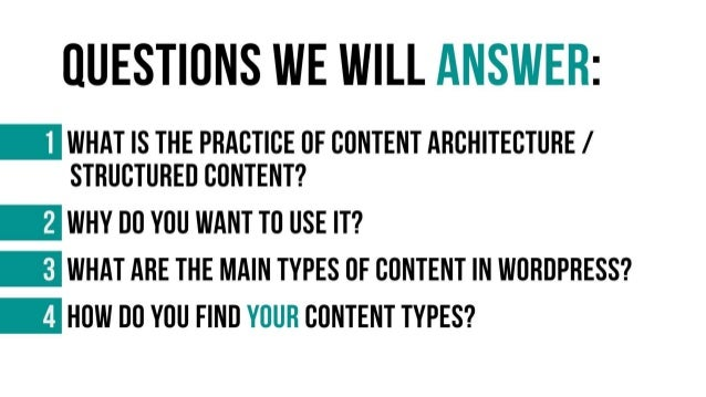 Content Architecture in WordPress Slide 3