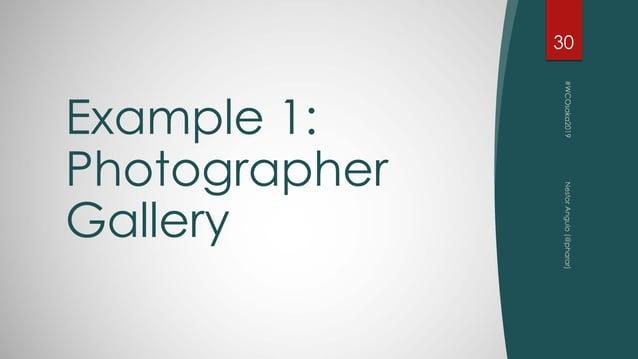 Example 1: Photographer Gallery 30