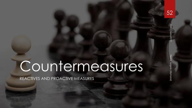Countermeasures REACTIVES AND PROACTIVE MEASURES 52 #WCOsaka2019NestorAngulo(@pharar)
