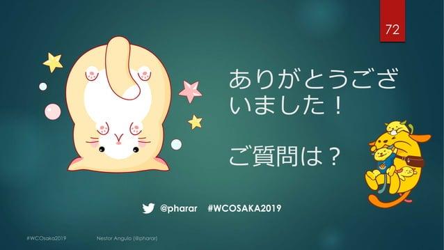 ありがとうござ いました︕ ご質問は︖ 72 @pharar #WCOSAKA2019