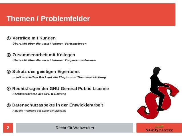 Recht für Webworker Slide 2