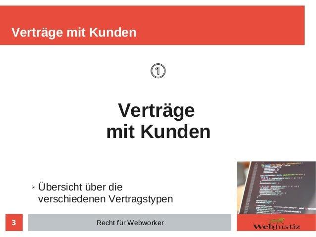 Recht für Webworker Slide 3