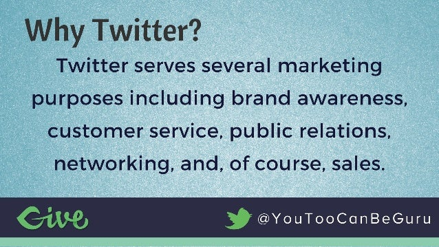 Relationship Marketing - Building Your Business Online with Twitter Slide 3