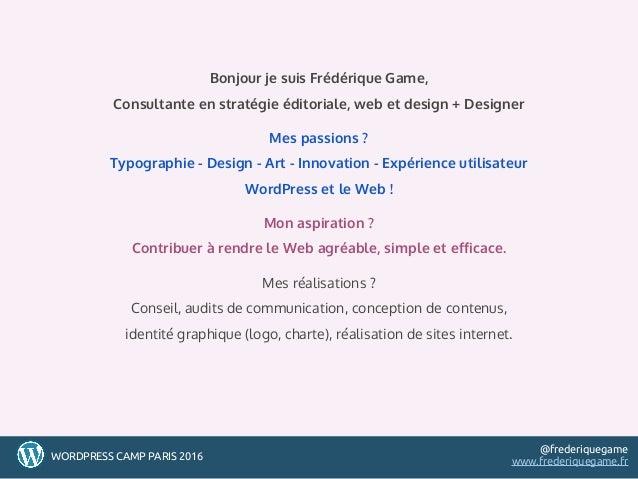 Conception de thèmes WordPress : construire  et optimiser son espace de travail Slide 2