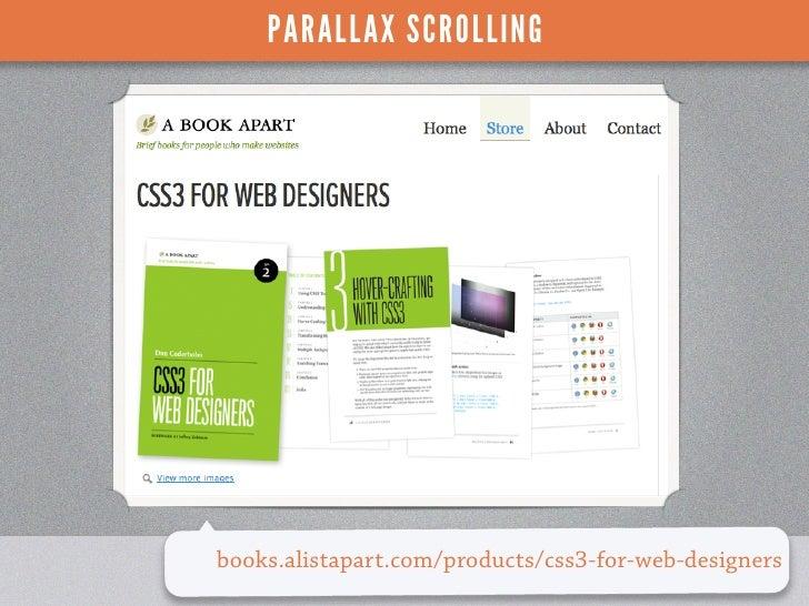 PARALLAX SCROLLINGbooks.alistapart.com/products/css3-for-web-designers                                  WORDCAMP PHOENIX