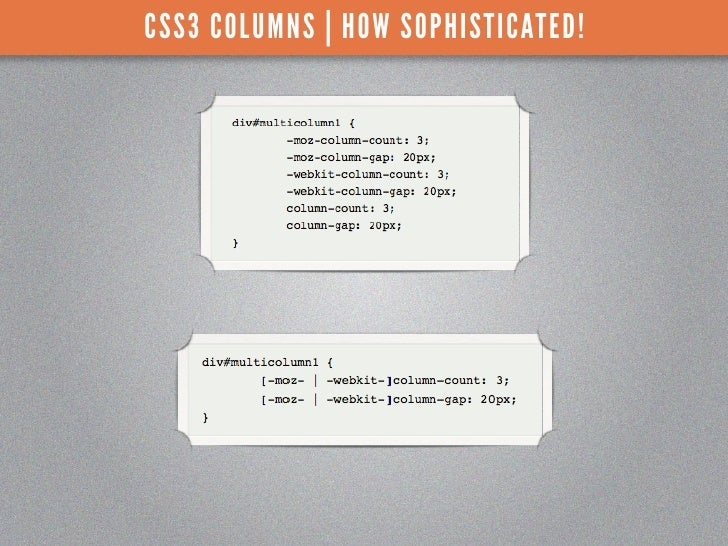 CSS3 COLUMNS | HOW SOPHISTICATED!