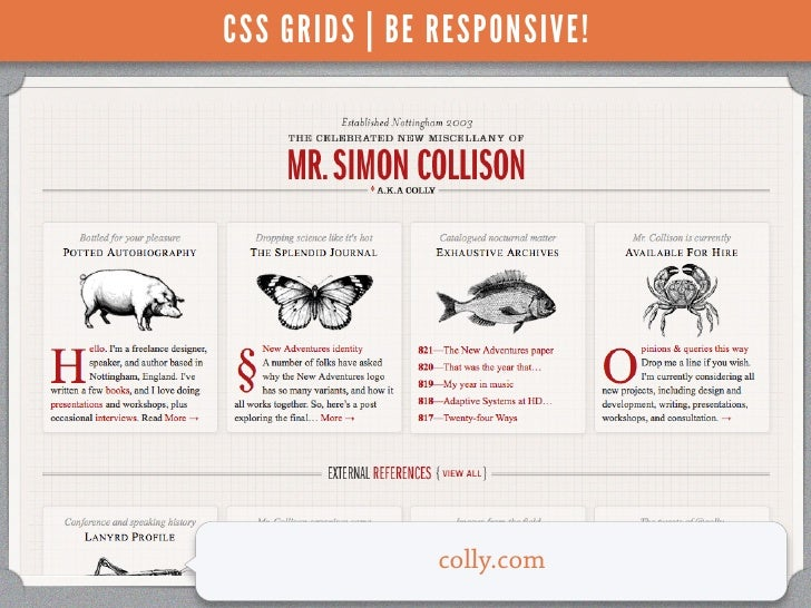CSS GRIDS | BE RESPONSIVE!               colly.com