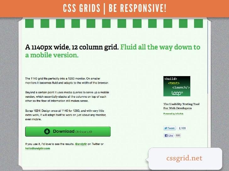 CSS GRIDS | BE RESPONSIVE!                             cssgrid.net