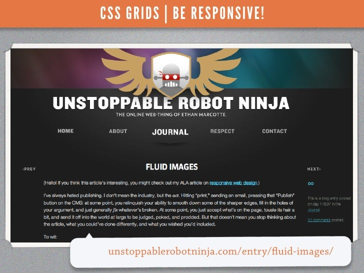 CSS GRIDS | BE RESPONSIVE! unstoppablerobotninja.com/entry/ uid-images/