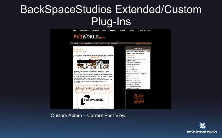 BackSpaceStudios Extended/Custom Plug-Ins Custom Admin – Current Post View