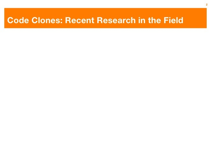 An Empirical Study on Inconsistent Changes to Code Clones at Release Level Slide 2
