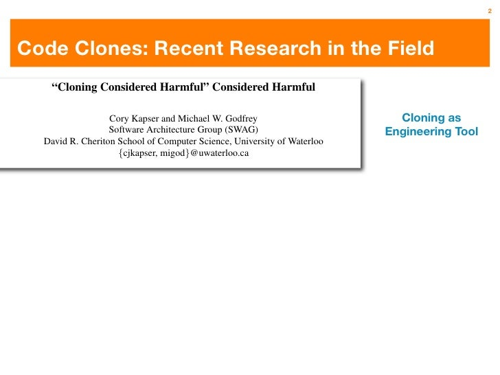 An Empirical Study on Inconsistent Changes to Code Clones at Release Level Slide 3
