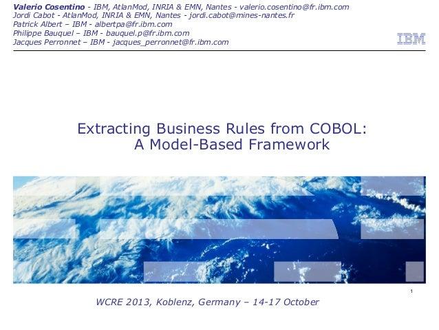 Valerio Cosentino - IBM, AtlanMod, INRIA & EMN, Nantes - valerio.cosentino@fr.ibm.com Jordi Cabot - AtlanMod, INRIA & EMN,...