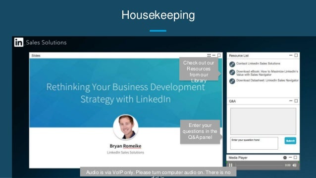 Rethinking Your Business Development Strategy with LinkedIn Slide 2