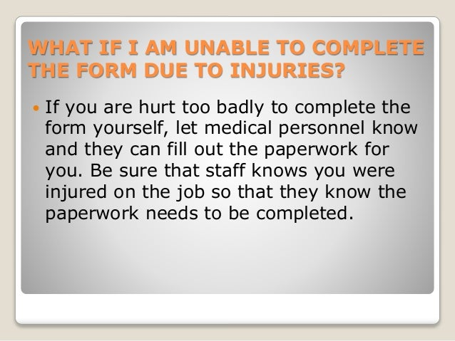 Worker's Compensation Resource Library - Section 1.3 How Should I Fil…