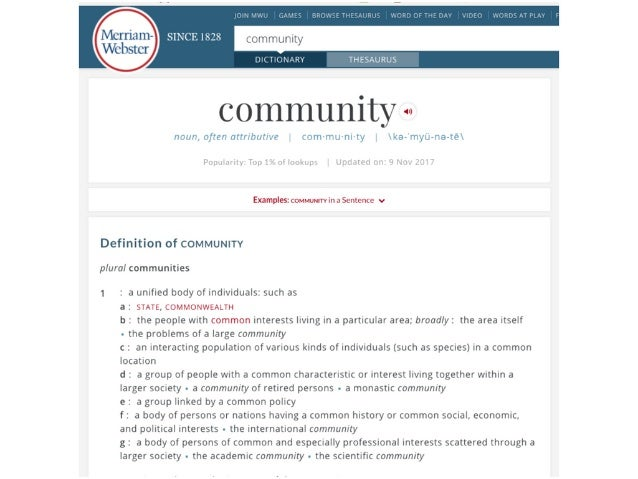 Building Community — One Conversation at a Time Slide 3