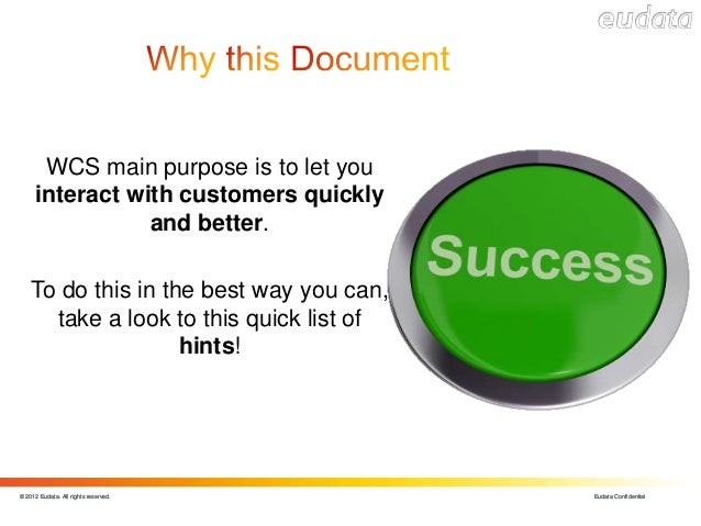 Wcs how to use Slide 2