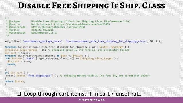 WooCommerce: shipping zones