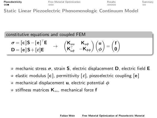 Free Material Optimization of Piezoelectric Material