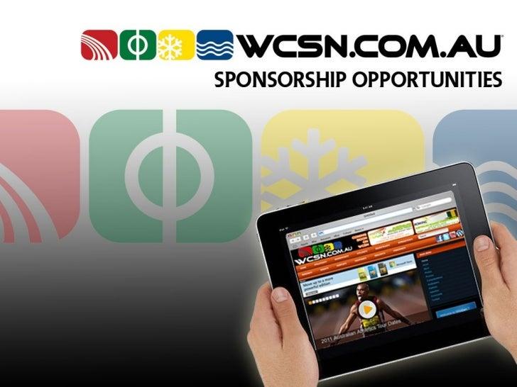 WCSN Sponsorship Opportunities