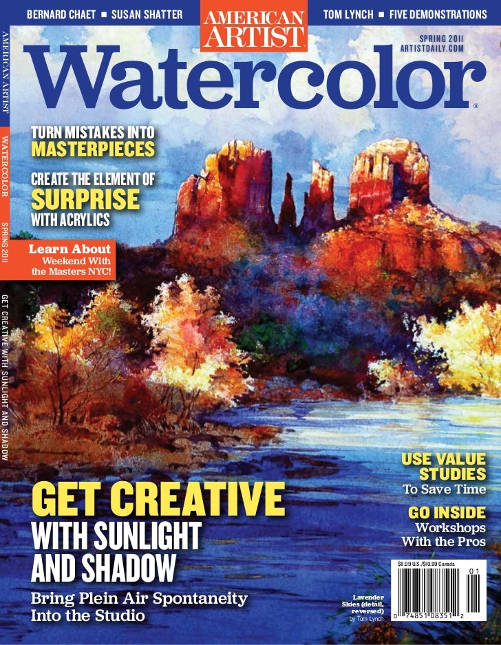 Spring Watercolor Magazine Cover
