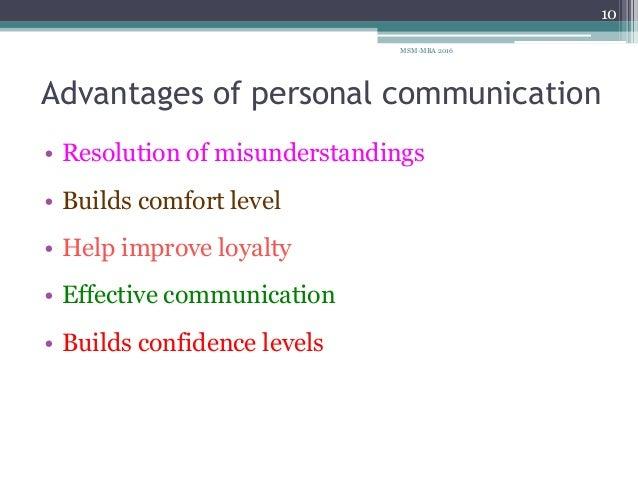 written communication unit 1 personal communication