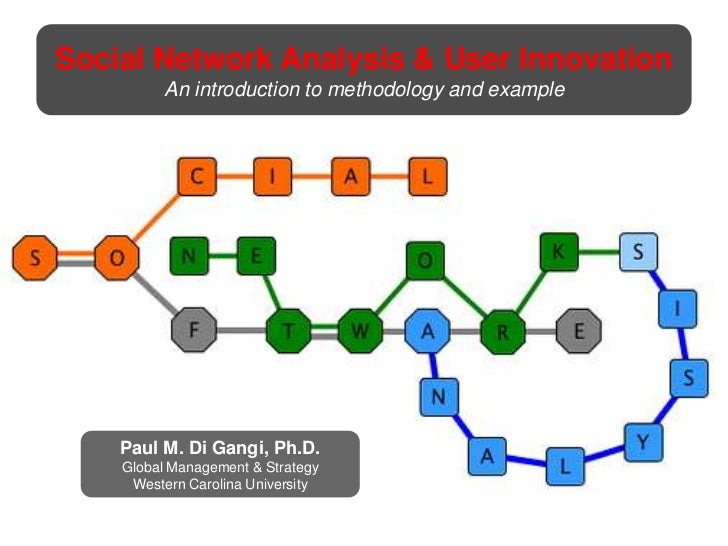 Social Network Analysis & User Innovation<br />An introduction to methodology and example<br />Paul M. Di Gangi, Ph.D.<br ...