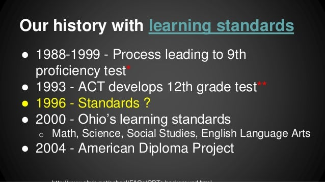 Learning Standards Presentation