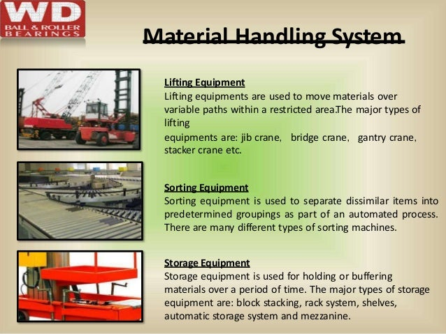 Material Handling System Lifting Equipment Lifting equipments are used to move materials over variable paths within a rest...