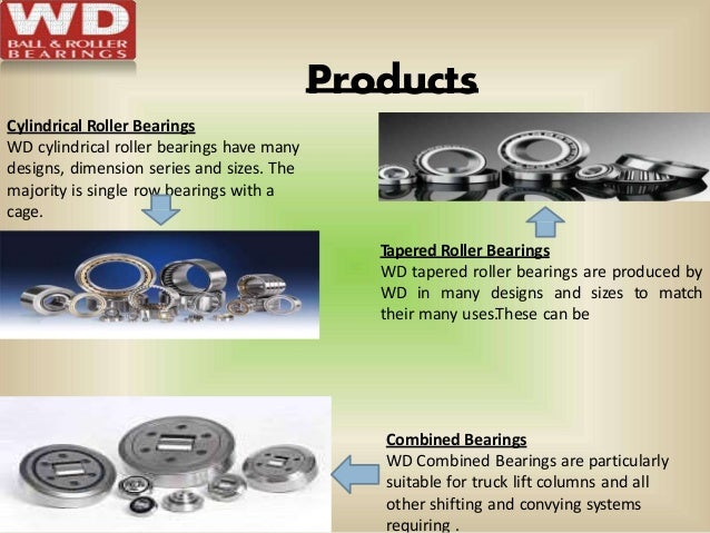 Products Cylindrical Roller Bearings WD cylindrical roller bearings have many designs, dimension series and sizes. The maj...