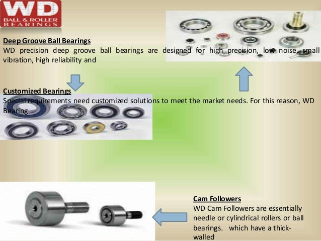 Cam Followers WD Cam Followers are essentially needle or cylindrical rollers or ball bearings,which have a thick- walled D...