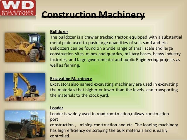 Construction Machinery Bulldozer The bulldozer is a crawler tracked tractor, equipped with a substantial metal plate used ...