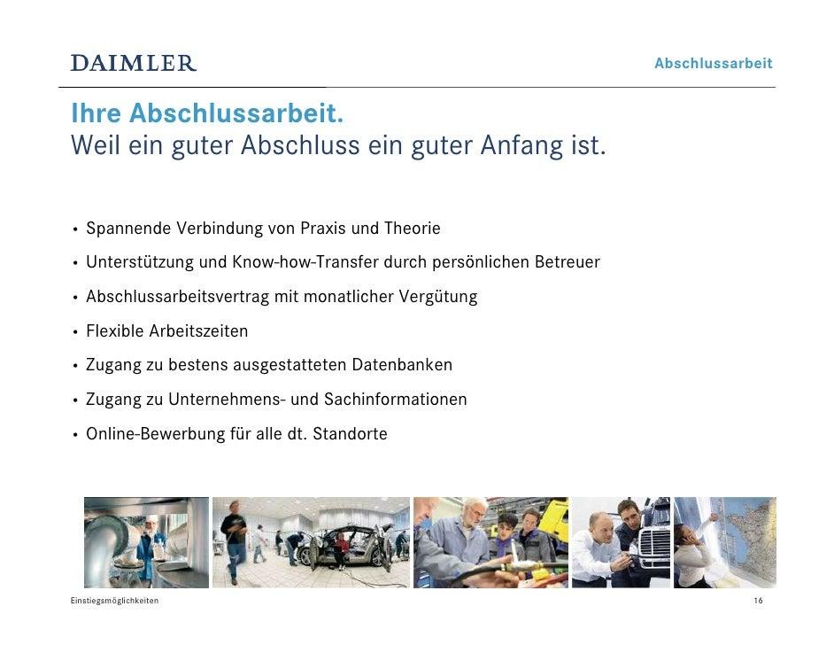 einstiegsmglichkeiten bei daimler - Daimler Online Bewerbung