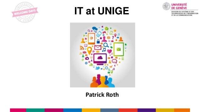 IT at UNIGE Patrick Roth