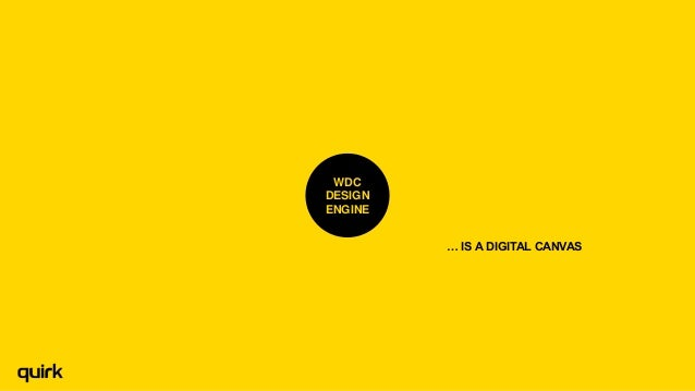 WDC DESIGN ENGINE … IS A DIGITAL CANVAS  Brave Curious Minds