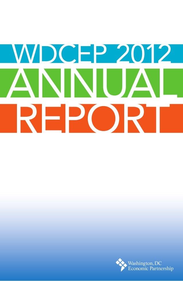 WDCEP 2012ANNUALREPORT