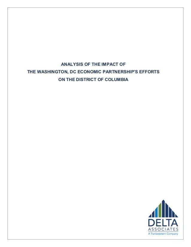 ANALYSIS OF THE IMPACT OFTHE WASHINGTON, DC ECONOMIC PARTNERSHIP'S EFFORTS           ON THE DISTRICT OF COLUMBIA