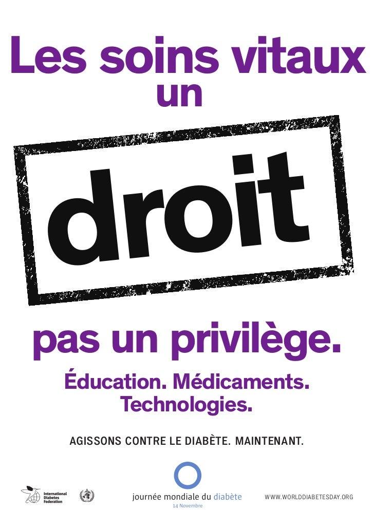 Les soins vitaux                 un droit pas un privilège.  Éducation. Médicaments.       Technologies.   AGISSONS CONTRE...