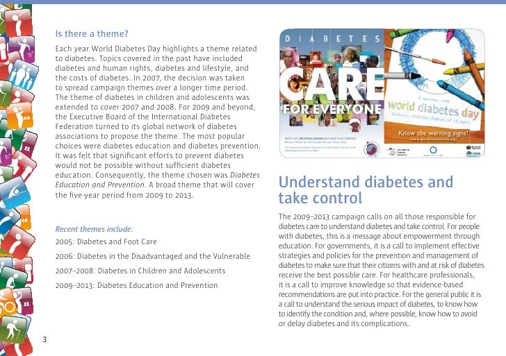 diabetes take control With a special multi-agency event on 14 november, cayman will join the  international community to celebrate world diabetes day started in 1991 and.