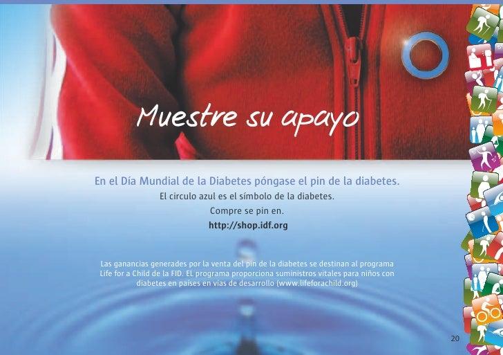 Muestre su apayo En el Día Mundial de la Diabetes póngase el pin de la diabetes.                   El circulo azul es el s...