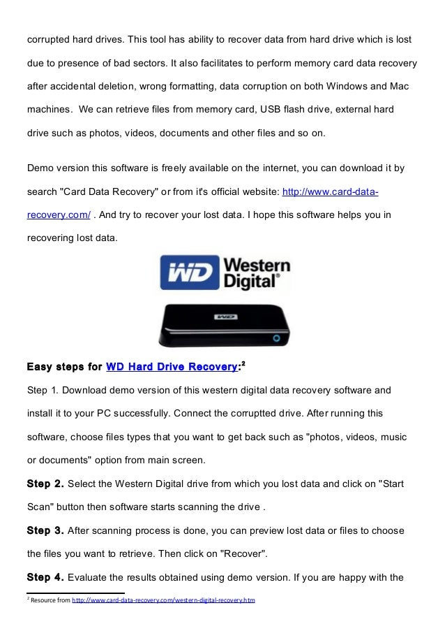 WD Data Recovery - Recover Files from Western Digital Hard