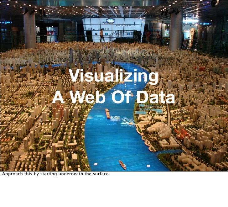 Visualizing                       A Web Of Data    Approach this by starting underneath the surface.